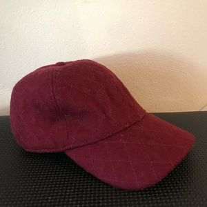 Accessories - Red quilted hat (madewell/jcrew)